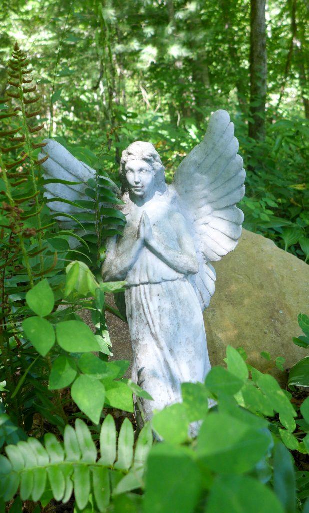 Angel in foliage