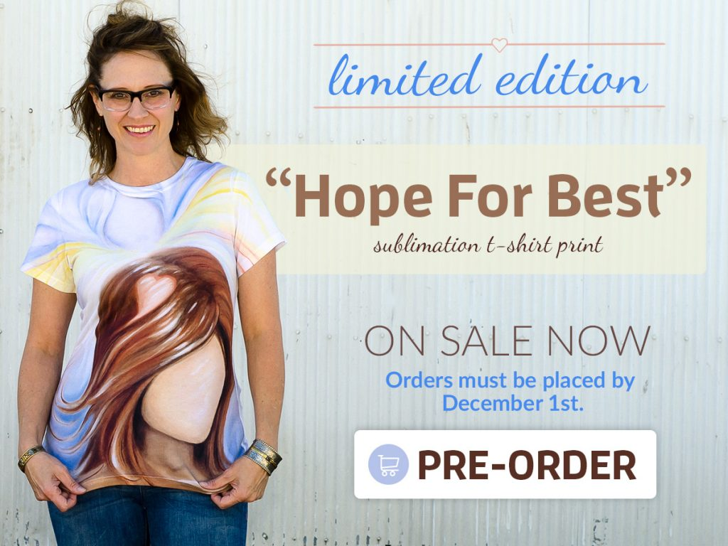 hope for best sublimation shirt promotion