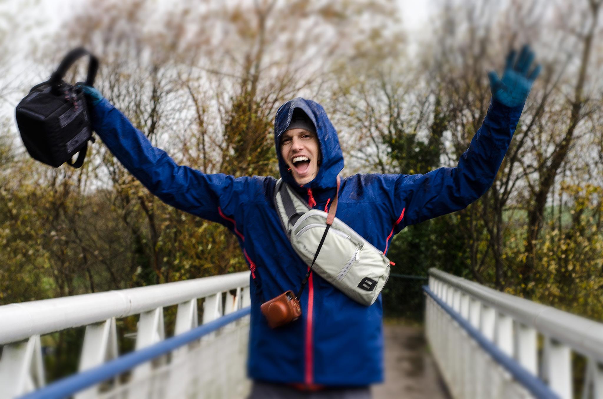 mike bowen at new grange rain soaked
